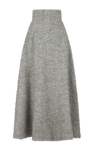 Medium emilia wickstead dark grey boucle serena skirt