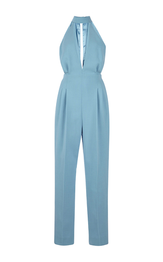 Medium emilia wickstead blue joni jumpsuit