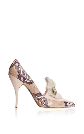 Medium oscar de la renta pink hyfa pump in soft pink mink