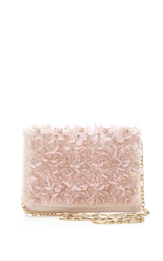Medium oscar de la renta pink petite evening bag in soft pink