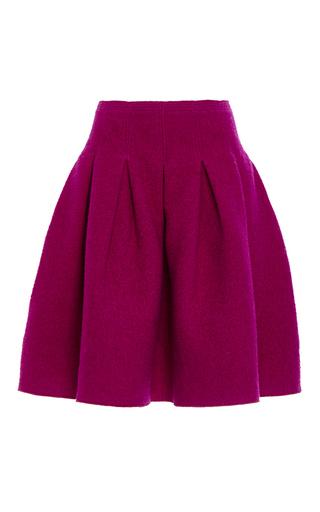 Medium oscar de la renta burgundy full pleated skirt