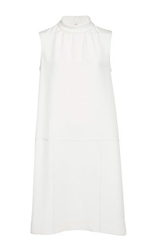 Medium oscar de la renta white ivory sleeveless roll collar shift dress
