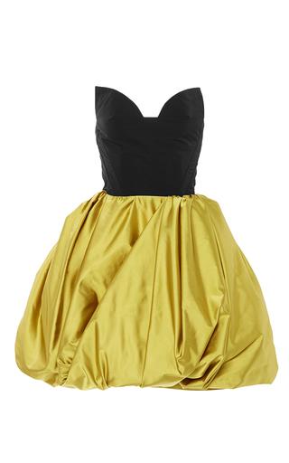 Medium oscar de la renta multi strapless sweetheart full skirt dress
