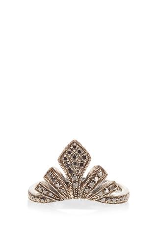 Medium joelle jewellery black antique black phalanx ring