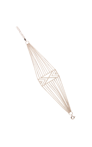 Medium joelle jewellery white cross chain small bracelet