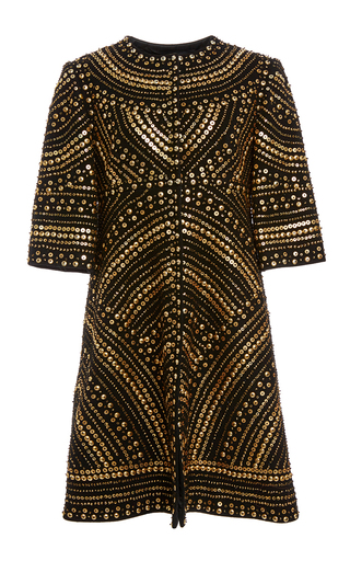 Medium naeem khan black metallic beaded coat