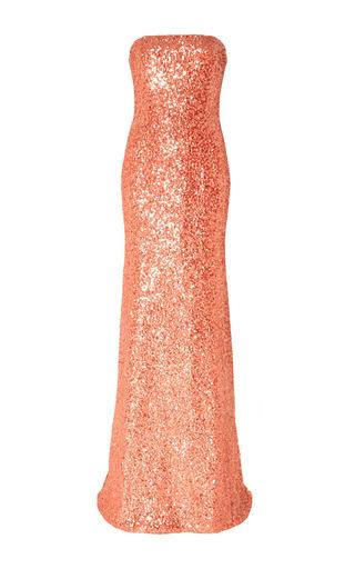 Medium naeem khan pink strapless sequin gown