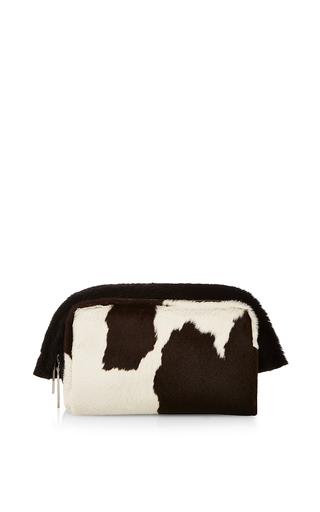 Medium proenza schouler black spotted calf hair carlton clutch