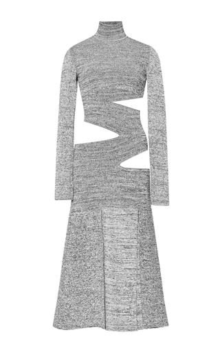 Medium proenza schouler white slashed matte viscose turtleneck knit dress