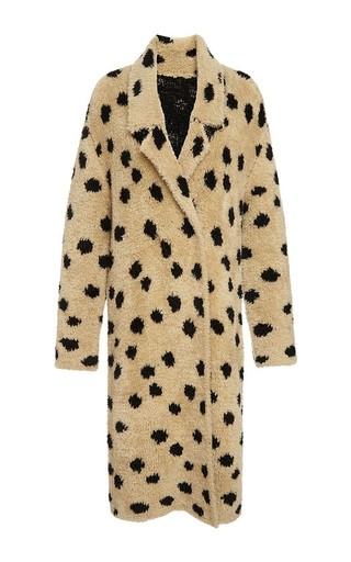 Medium thakoon addition brown ocelot jacquard coat