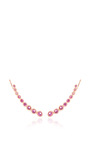 Mini Bezel Ear Cuff With Pink Sapphires by EF COLLECTION Now Available on Moda Operandi