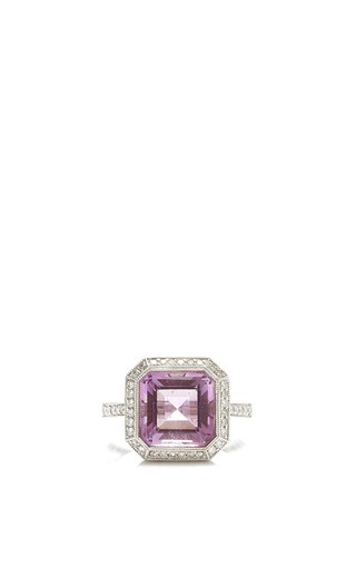 Medium gioia pink amethyst and diamonds ring