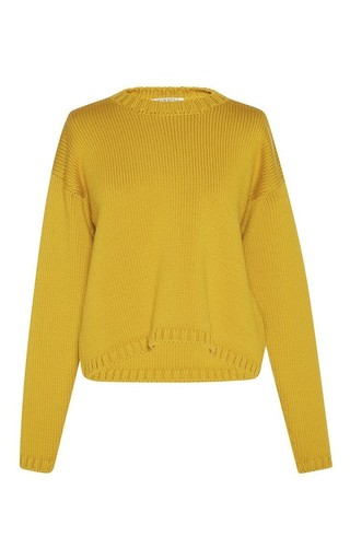 Medium vivetta yellow lime deledda crew neck sweater