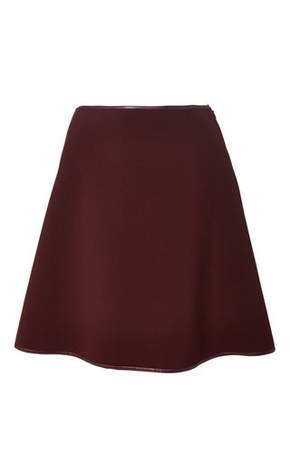 Medium clover canyon burgundy solid suiting skirt in burgundy