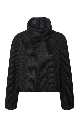 Medium clover canyon black sweater knit sweatshirt in black
