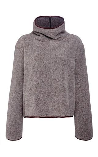 Medium clover canyon dark grey polar fleece sweatshirt
