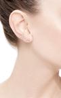 Heartbeat Earring With White Diamonds by DIANE KORDAS Now Available on Moda Operandi