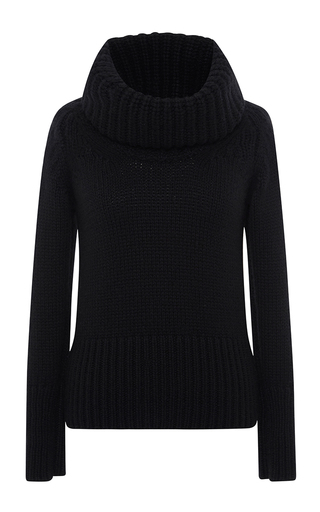 Medium blumarine black black cashmere turtleneck sweater