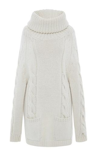 Medium blumarine white ivory cashmere turtleneck sweater dress