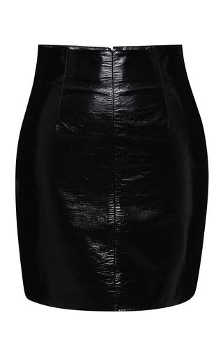 Medium blumarine black black leather skirt