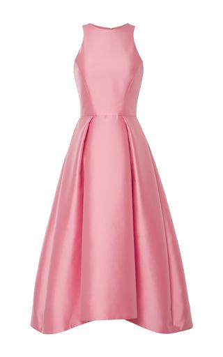 Medium monique lhuillier pink monique lhuillier rose silk mikado structured dress
