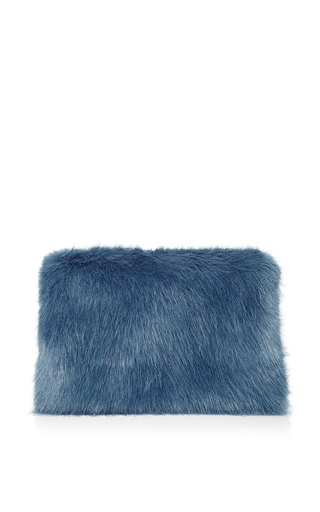 Damsel Clutch In Blue Grey by SHRIMPS Now Available on Moda Operandi