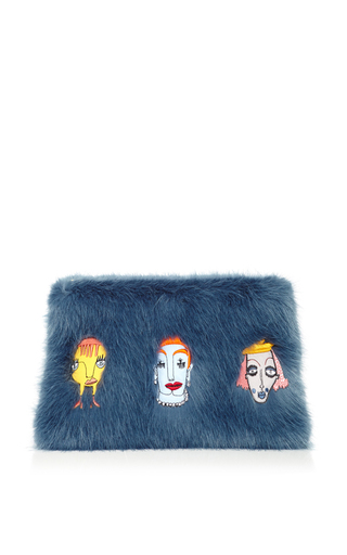 Medium shrimps blue damsel clutch in blue grey