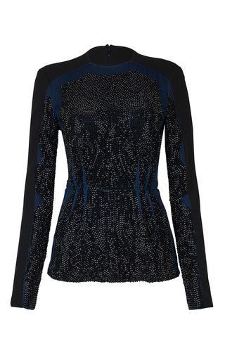 Medium issa blue meg embellished blouse