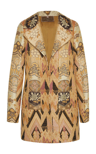 Medium etro print flaxen jacquard stripe waistcoat