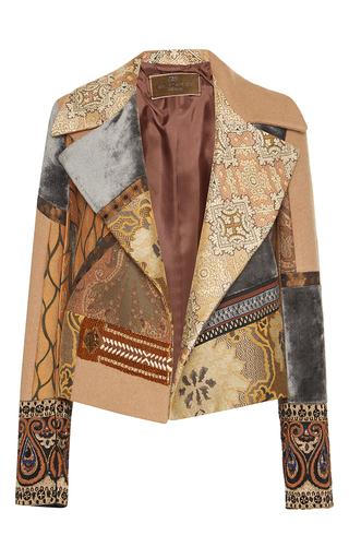 Medium etro multi embroidered patchwork moto jacket