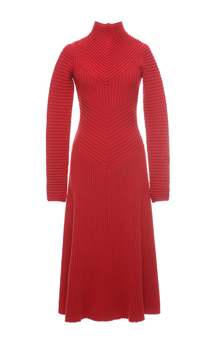 95880da801eb Poppy Ribbed Knit Dress by Salvatore Ferragamo