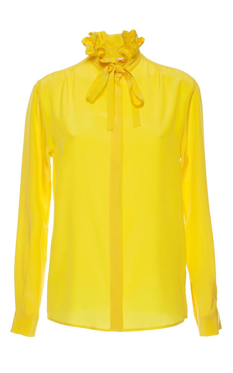 d3d3e42fe611e4 Ruffle Collar Silk Blouse by MSGM | Moda Operandi