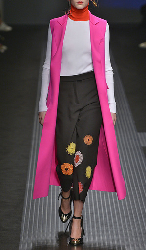 Pink Wool Gilet by MSGM Now Available on Moda Operandi