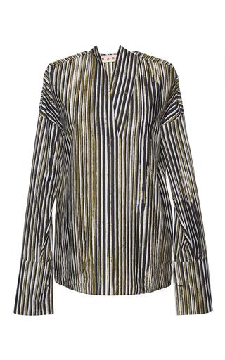 Chalk Stripe Cotton Shirt by MARNI Now Available on Moda Operandi