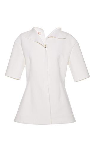 Bonded Washed Wool Short Sleeve Shirt by MARNI Now Available on Moda Operandi
