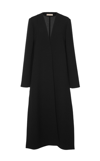 Bonded Double Worsted Open Wrap Coat by MARNI Now Available on Moda Operandi