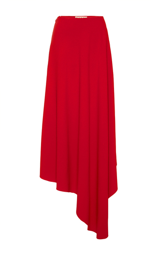 Medium marni red stretch cady midi skirt in hot red