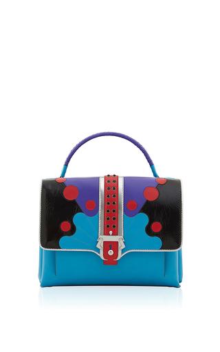 Medium paula cademartori multi blue faye top handle bag