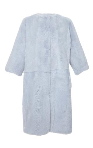 Medium dolce gabbana blue sky blue mink coat
