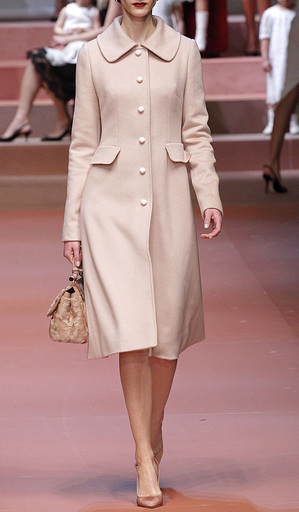 Pale Pink Cashmere Dress Coat by Dolce & Gabbana | Moda Operandi