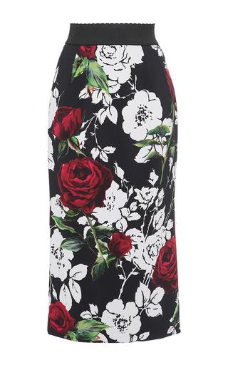 Medium dolce gabbana print rose printed pencil skirt