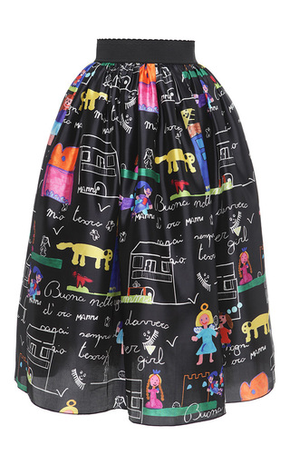 Medium dolce gabbana print drawing print full skirt