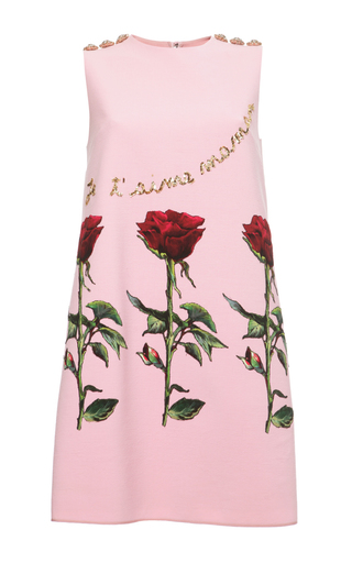 Medium dolce gabbana pink double crepe je taime maman shift dress
