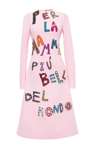 Medium dolce gabbana pink double crepe per la mamma dress