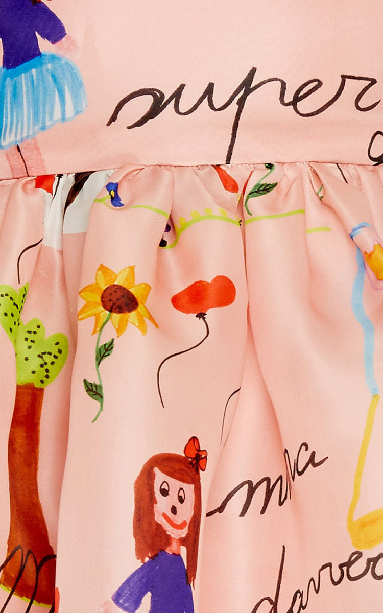 Kid\'s Drawing Print Organza Dress 2-6Y by Dolce & | Moda Operandi