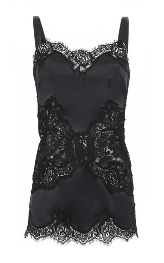 Medium dolce gabbana black lace insert camisole