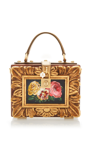 Medium dolce gabbana multi wood framework dolce bag
