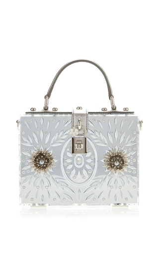 Medium dolce gabbana metallic embellished plexi mirror dolce bag