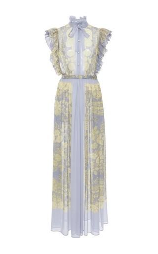 Medium philosophy di lorenzo serafini multi sleeveless printed silk gown