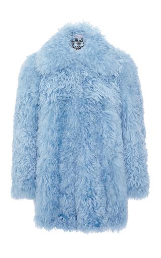 Medium philosophy di lorenzo serafini blue shaved mongolian lamb fur coat